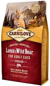 """קרנילאב לחתולים מסורסים בטעם כבש וחזיר 2 ק""""ג"""