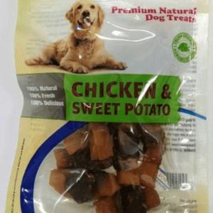 אודוג חטיף לכלב ODOG – נתחי עוף ובטטה