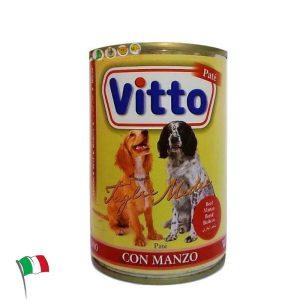 ויטו פטה – מזון רטוב שימורים לכלבים, רצועות בשר בקר 415 גרם