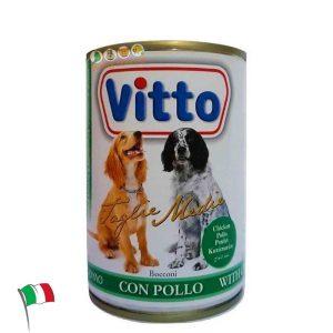 ויטו – מזון רטוב שימורים לכלבים, קוביות בשר עוף 400 גרם