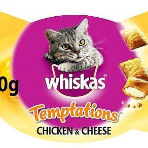 חטיף כריות לחתול ויסקאס טמפטיישן עוף וגבינה