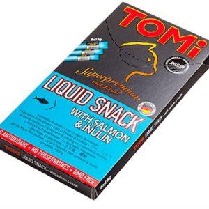 טומי חטיף נוזלי בטעם סלמון 8 יחידות