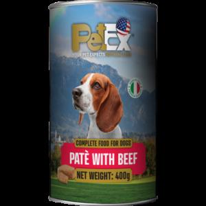 פטקס שימורי מזון לכלבים -חתיכות בקר ברוטב עסיסי400 גרם